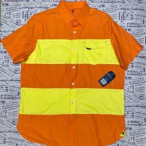 Rocawear Classic Vibrant Orange Button Down (NWT)
